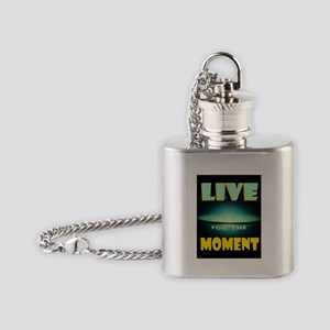 LIVE NOW Flask Necklace