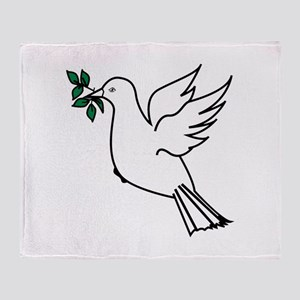Dove and olive branch 3 Throw Blanket