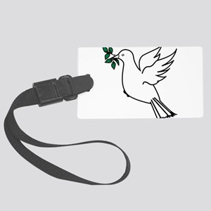 Dove and olive branch 3 Large Luggage Tag