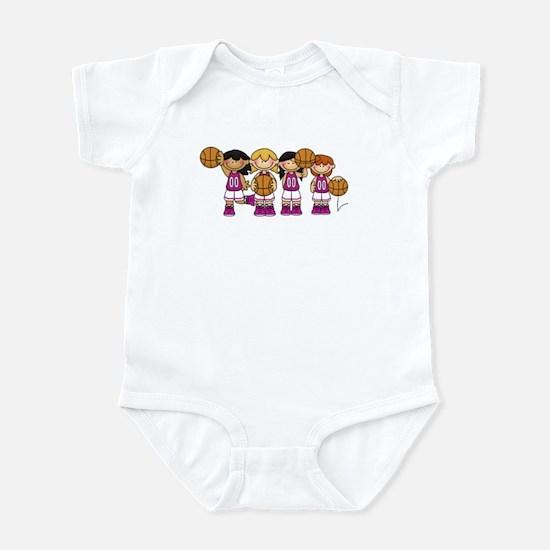 Girl's Basketball Team Infant Bodysuit