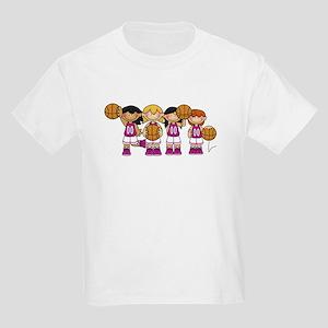 Girl's Basketball Team Kids Light T-Shirt