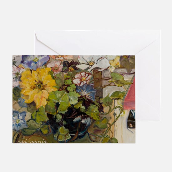 Cosmos and Morning Glories Greeting Card