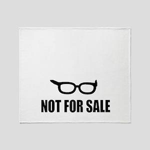 Bernie Sanders Not For Sale Throw Blanket