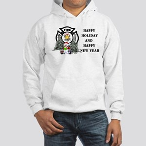 Fire Dept Christmas Hooded Sweatshirt