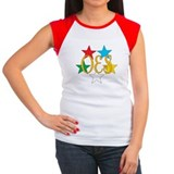 Order eastern star circle stars sleeves Women's Cap Sleeve T-Shirt