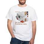 Bush Libary White T-Shirt