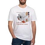 Bush Libary Fitted T-Shirt