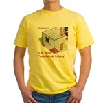 Bush Libary Yellow T-Shirt