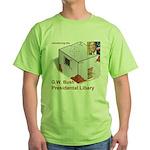 Bush Libary Green T-Shirt