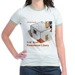 Bush Libary Jr. Ringer T-Shirt