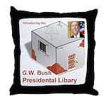 Bush Libary Throw Pillow