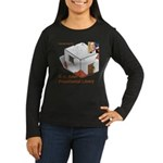 Bush Libary Women's Long Sleeve Dark T-Shirt