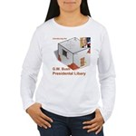 Bush Libary Women's Long Sleeve T-Shirt