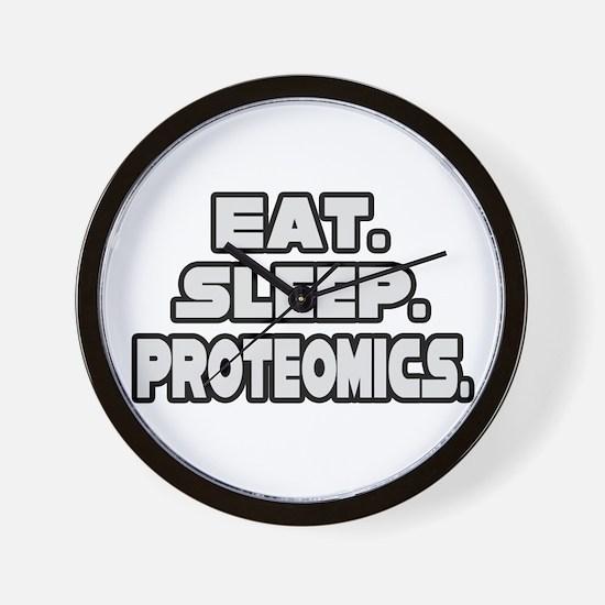 """""""Eat. Sleep. Proteomics."""" Wall Clock"""