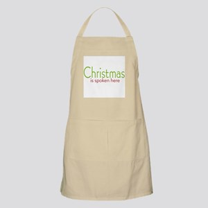 Christmas is Spoken Here BBQ Apron