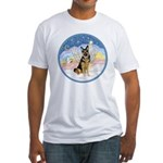 Clouds (#3) & Willi Fitted T-Shirt
