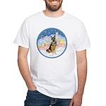 Clouds (#3) & Willi White T-Shirt