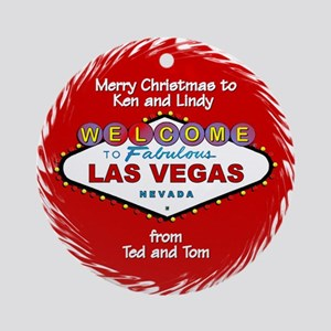 Ken & Lindy Personalized Christmas Ornament (R
