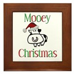 Mooey Christmas Framed Tile