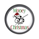 Mooey Christmas Wall Clock
