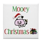 Mooey Christmas Tile Coaster