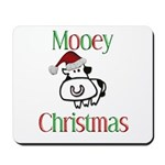 Mooey Christmas Mousepad