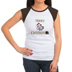 Mooey Christmas Women's Cap Sleeve T-Shirt