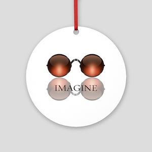 Imagine Rose Colored Glasses Ornament (Round)
