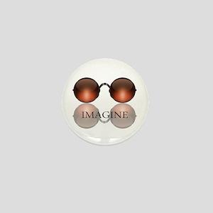 Imagine Rose Colored Glasses Mini Button