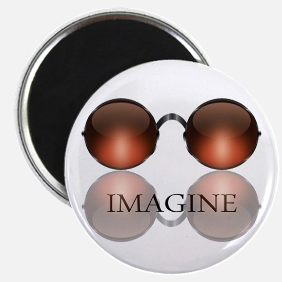 Imagine Rose Colored Glasses Magnet
