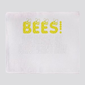 Bees! Tommy Boy Quote Throw Blanket