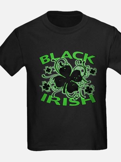 Black Shamrocks Black Irish T