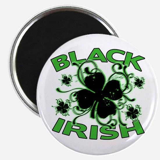 "Black Shamrocks Black Irish 2.25"" Magnet (10 pack)"