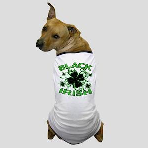 Black Shamrocks Black Irish Dog T-Shirt