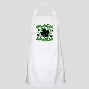 Black Shamrocks Black Irish Apron