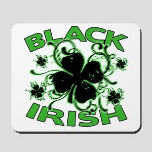 Black Shamrocks Black Irish Mousepad