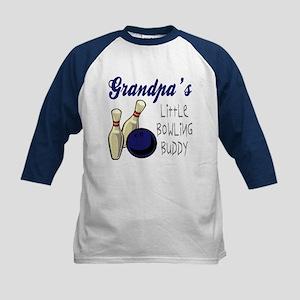 Grandpa's Bowling Buddy Kids Baseball Jersey