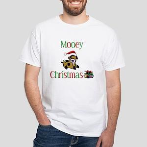 Mooey Christmas White T-Shirt