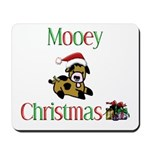 Mooey Christmas Mousepad
