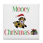 Mooey Christmas Tile Coaster