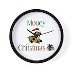 Mooey Christmas Wall Clock