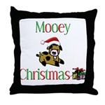 Mooey Christmas Throw Pillow
