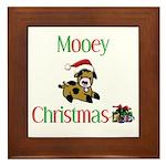Mooey Christmas Framed Tile