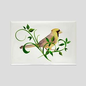 Yellow Cardinal Rectangle Magnet