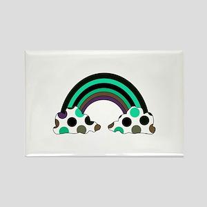 Cool Polka Dot Rainbow Rectangle Magnet