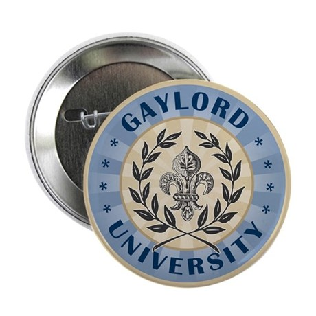 """Gaylord Last name University 2.25"""" Button (100 pac"""