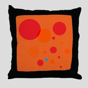 Dropping Blue Dot Throw Pillow