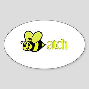 Biatch Oval Sticker