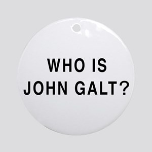 Who is John Galt? Ornament (Round)