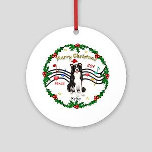 XmasMusic 1MC & Ryley Ornament (Round)